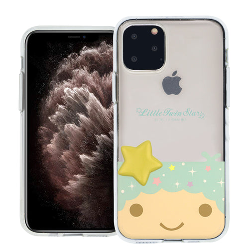 iPhone 11 Case (6.1inch) Little Twin Stars Boy Face Cute Star Clear Jelly Cover - Face Little Twin Stars Kiki
