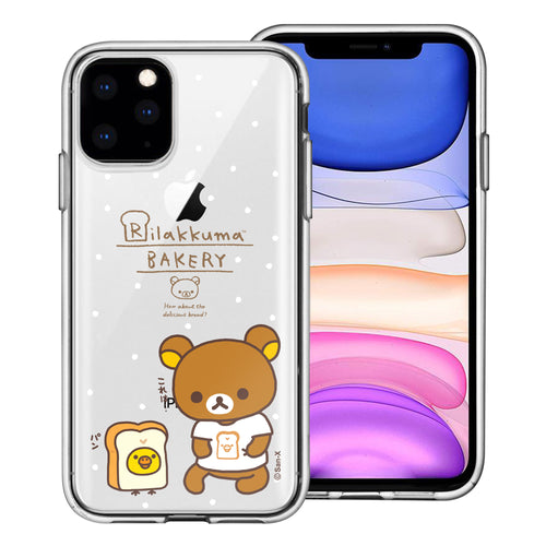 iPhone 11 Pro Max Case (6.5inch) Rilakkuma Clear TPU Cute Soft Jelly Cover - Rilakkuma Bread