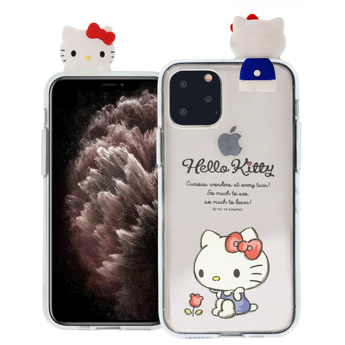 iPhone 12 mini Case (5.4inch) Hello Kitty Cute Figure Doll Soft Jelly Cover for - Figure Hello Kitty Sitting