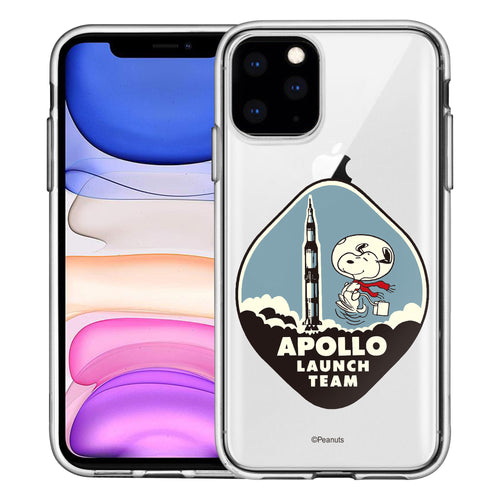 iPhone 11 Pro Case (5.8inch) PEANUTS Clear TPU Cute Soft Jelly Cover - Apollo Rocket