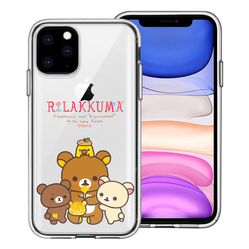iPhone 11 Pro Max Case (6.5inch) Rilakkuma Clear TPU Cute Soft Jelly Cover - Rilakkuma Honey