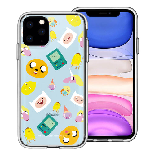 iPhone 11 Pro Max Case (6.5inch) Adventure Time Clear TPU Cute Soft Jelly Cover - Cuty Pattern Blue
