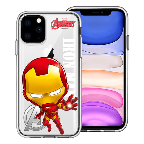 iPhone 11 Case (6.1inch) Marvel Avengers Soft Jelly TPU Cover - Mini Iron Man