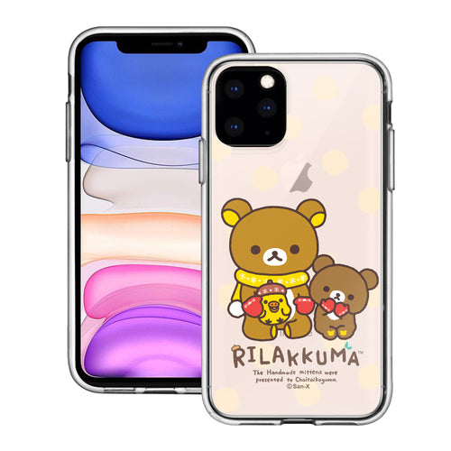 iPhone 12 Pro Max Case (6.7inch) Rilakkuma Clear TPU Cute Soft Jelly Cover - Chairoikoguma Sit