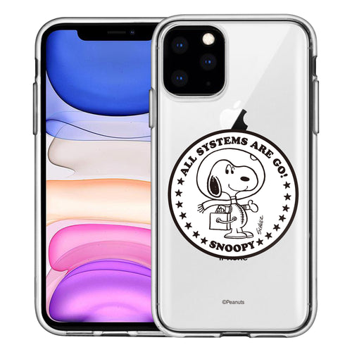 iPhone 11 Pro Case (5.8inch) PEANUTS Clear TPU Cute Soft Jelly Cover - Apollo Stamp