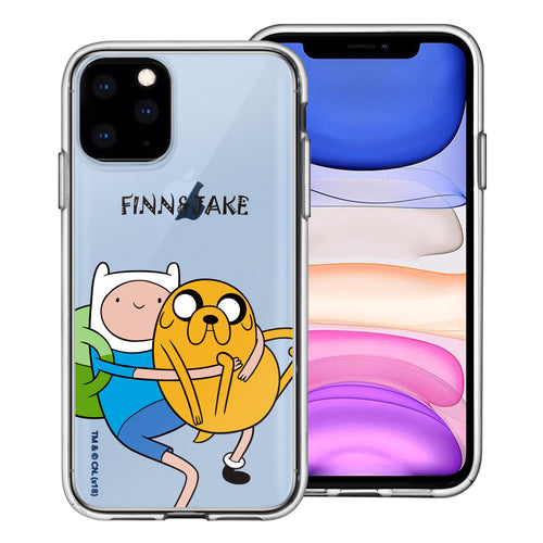 iPhone 11 Pro Max Case (6.5inch) Adventure Time Clear TPU Cute Soft Jelly Cover - Lovely Finn and Jake