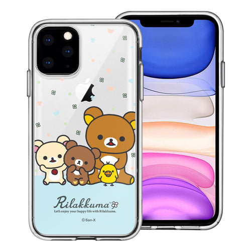 iPhone 11 Pro Max Case (6.5inch) Rilakkuma Clear TPU Cute Soft Jelly Cover - Rilakkuma Friends