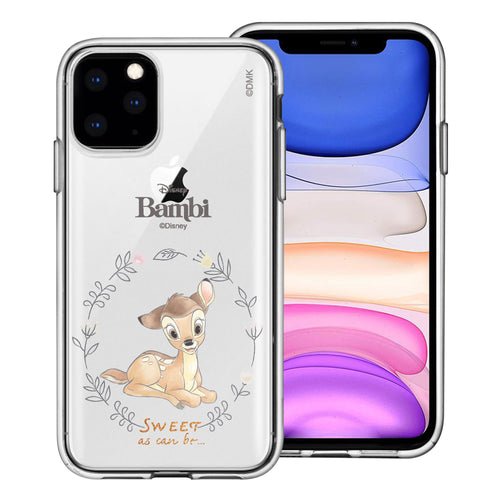 iPhone 12 mini Case (5.4inch) Disney Clear TPU Cute Soft Jelly Cover - Full Bambi