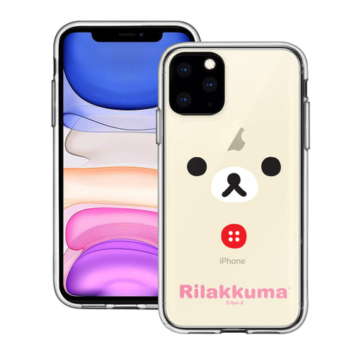 iPhone 11 Pro Max Case (6.5inch) Rilakkuma Clear TPU Cute Soft Jelly Cover - Face Korilakkuma