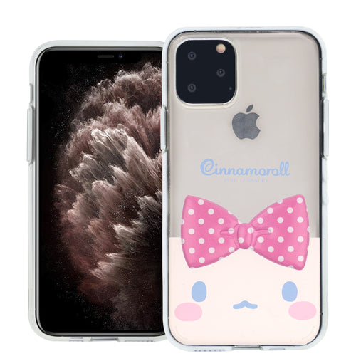 iPhone 12 mini Case (5.4inch) Cinnamoroll Face Cute Bow Ribbon Clear Jelly Cover - Face Cinnamoroll