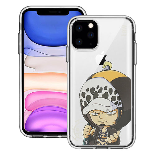 iPhone 11 Pro Case (5.8inch) ONE PIECE Clear TPU Cute Soft Jelly Cover - Mini Law