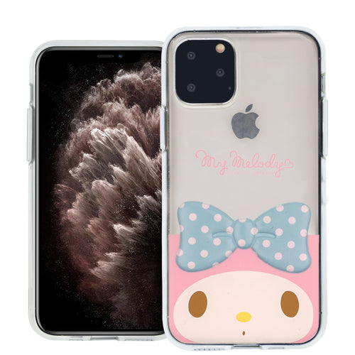iPhone 11 Case (6.1inch) My Melody Face Cute Bow Ribbon Clear Jelly Cover - Face My Melody