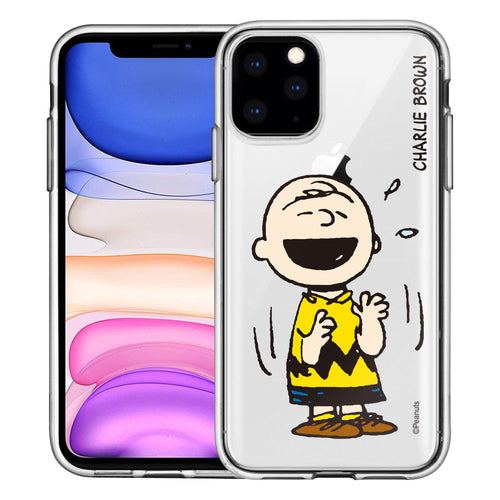 iPhone 12 mini Case (5.4inch) PEANUTS Clear TPU Cute Soft Jelly Cover - Smile Charlie Brown
