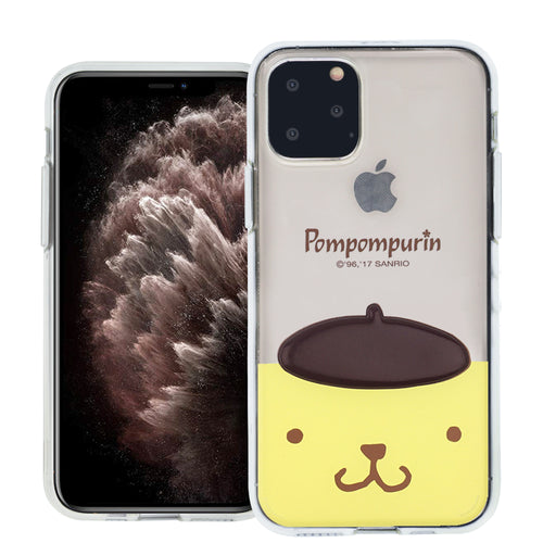 iPhone 12 mini Case (5.4inch) Pompompurin Face Cute Hat Clear Jelly Cover - Face Pompompurin