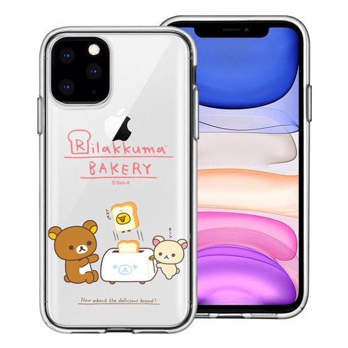 iPhone 12 Pro Max Case (6.7inch) Rilakkuma Clear TPU Cute Soft Jelly Cover - Rilakkuma Toast