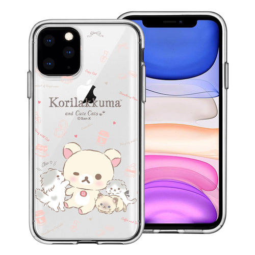 iPhone 11 Pro Max Case (6.5inch) Rilakkuma Clear TPU Cute Soft Jelly Cover - Korilakkuma Cat