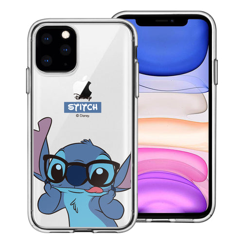 iPhone 12 mini Case (5.4inch) Disney Clear TPU Cute Soft Jelly Cover - Glasses Stitch
