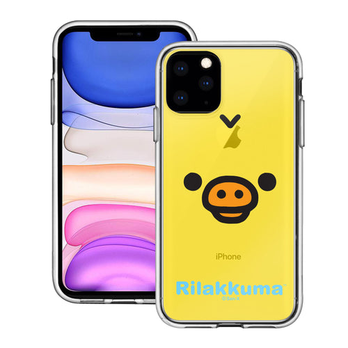 iPhone 11 Pro Max Case (6.5inch) Rilakkuma Clear TPU Cute Soft Jelly Cover - Face Kiiroitori