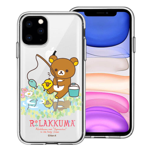 iPhone 11 Pro Max Case (6.5inch) Rilakkuma Clear TPU Cute Soft Jelly Cover - Rilakkuma Fishing