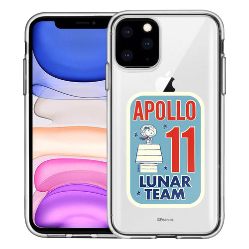 iPhone 12 mini Case (5.4inch) PEANUTS Clear TPU Cute Soft Jelly Cover - Apollo 11