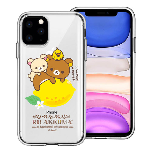iPhone 11 Pro Max Case (6.5inch) Rilakkuma Clear TPU Cute Soft Jelly Cover - Rilakkuma Lemon