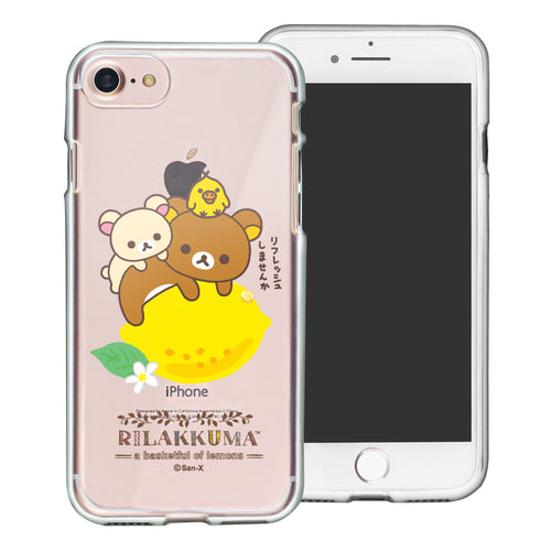 iPhone SE 2020 / iPhone 8 / iPhone 7 Case (4.7inch) Rilakkuma Clear TPU Cute Soft Jelly Cover - Rilakkuma Lemon