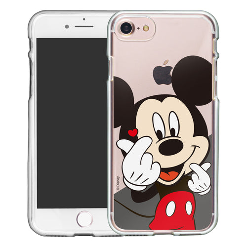 iPhone 5S / iPhone 5 / iPhone SE (2016) Case Disney Clear TPU Cute Soft Jelly Cover - Heart Mickey Mouse