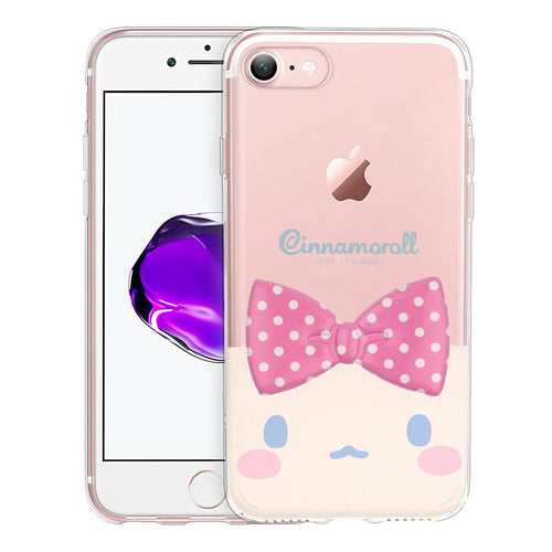 iPhone 6S / iPhone 6 Case (4.7inch) Cinnamoroll Face Cute Bow Ribbon Clear Jelly Cover - Face Cinnamoroll