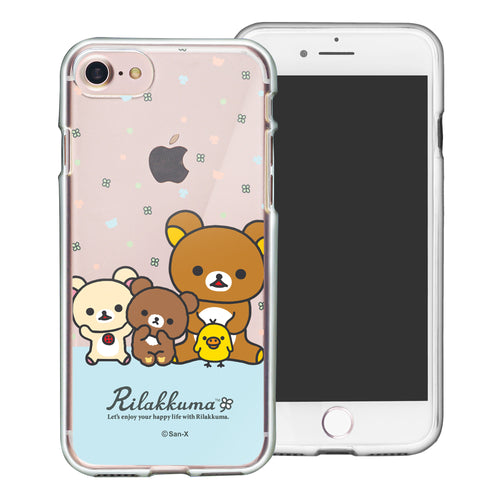 iPhone SE 2020 / iPhone 8 / iPhone 7 Case (4.7inch) Rilakkuma Clear TPU Cute Soft Jelly Cover - Rilakkuma Friends
