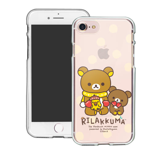 iPhone SE 2020 / iPhone 8 / iPhone 7 Case (4.7inch) Rilakkuma Clear TPU Cute Soft Jelly Cover - Chairoikoguma Sit
