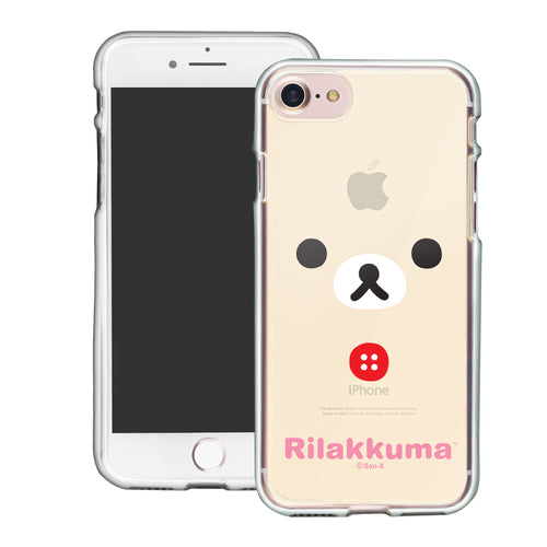 iPhone SE 2020 / iPhone 8 / iPhone 7 Case (4.7inch) Rilakkuma Clear TPU Cute Soft Jelly Cover - Face Korilakkuma
