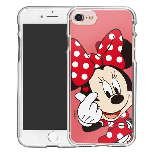 iPhone SE 2020 / iPhone 8 / iPhone 7 Case (4.7inch) Disney Clear TPU Cute Soft Jelly Cover - Color Minnie Mouse