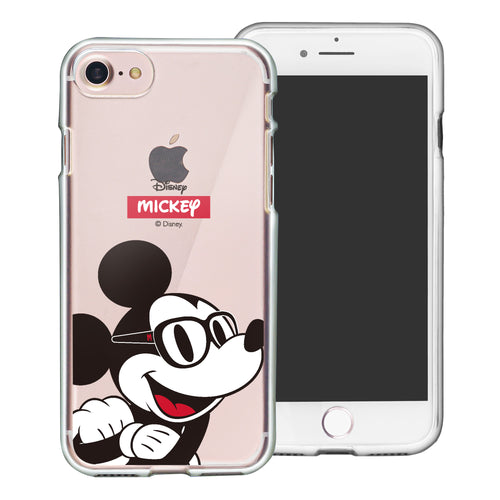 iPhone SE 2020 / iPhone 8 / iPhone 7 Case (4.7inch) Disney Clear TPU Cute Soft Jelly Cover - Glasses Mickey Mouse