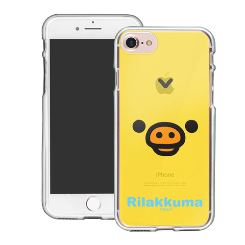 iPhone SE 2020 / iPhone 8 / iPhone 7 Case (4.7inch) Rilakkuma Clear TPU Cute Soft Jelly Cover - Face Kiiroitori