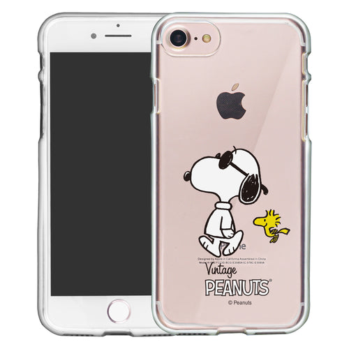 iPhone SE 2020 / iPhone 8 / iPhone 7 Case (4.7inch) PEANUTS Clear TPU Cute Soft Jelly Cover - Vivid Snoopy Woodstock
