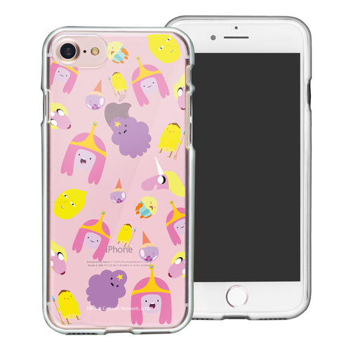 iPhone 8 Plus / iPhone 7 Plus Case Adventure Time Clear TPU Cute Soft Jelly Cover - Cuty Pattern Pink