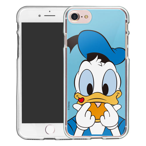iPhone SE 2020 / iPhone 8 / iPhone 7 Case (4.7inch) Disney Clear TPU Cute Soft Jelly Cover - Color Donald Duck