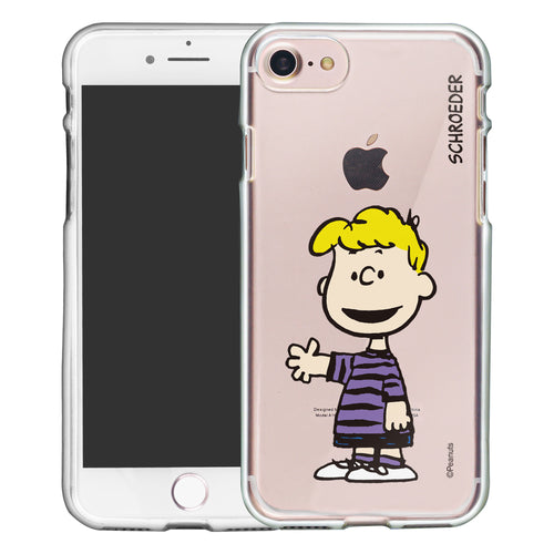 iPhone SE 2020 / iPhone 8 / iPhone 7 Case (4.7inch) PEANUTS Clear TPU Cute Soft Jelly Cover - Smile Schroeder