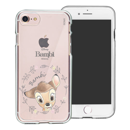 iPhone SE 2020 / iPhone 8 / iPhone 7 Case (4.7inch) Disney Clear TPU Cute Soft Jelly Cover - Face Bambi