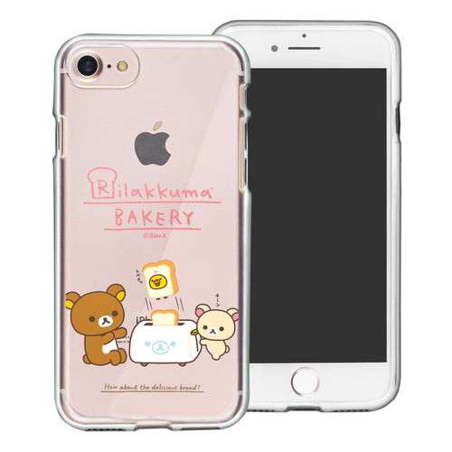 iPhone SE 2020 / iPhone 8 / iPhone 7 Case (4.7inch) Rilakkuma Clear TPU Cute Soft Jelly Cover - Rilakkuma Toast