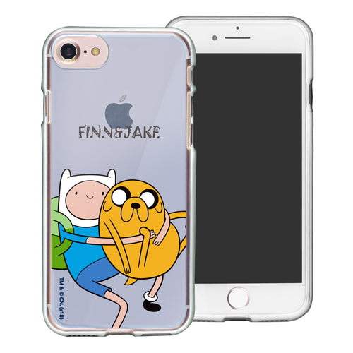 iPhone 8 Plus / iPhone 7 Plus Case Adventure Time Clear TPU Cute Soft Jelly Cover - Lovely Finn and Jake