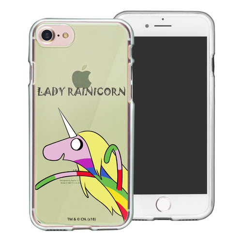 iPhone 8 Plus / iPhone 7 Plus Case Adventure Time Clear TPU Cute Soft Jelly Cover - Lovely Lady Rainicorn