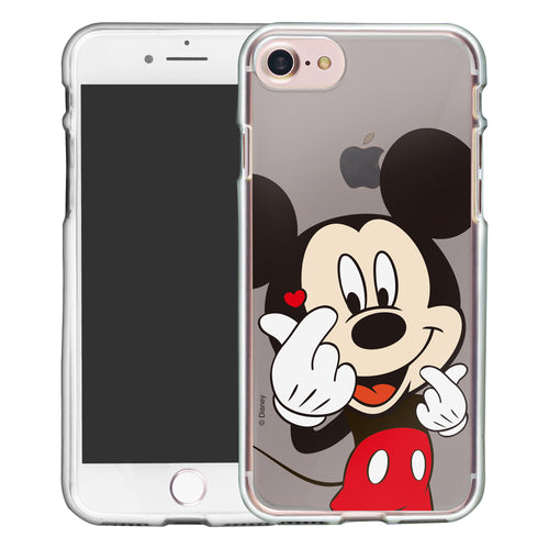 iPhone SE 2020 / iPhone 8 / iPhone 7 Case (4.7inch) Disney Clear TPU Cute Soft Jelly Cover - Color Mickey Mouse