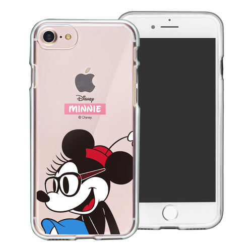 iPhone SE 2020 / iPhone 8 / iPhone 7 Case (4.7inch) Disney Clear TPU Cute Soft Jelly Cover - Glasses Minnie Mouse