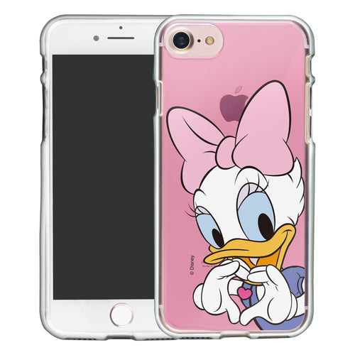 iPhone SE 2020 / iPhone 8 / iPhone 7 Case (4.7inch) Disney Clear TPU Cute Soft Jelly Cover - Color Daisy Duck