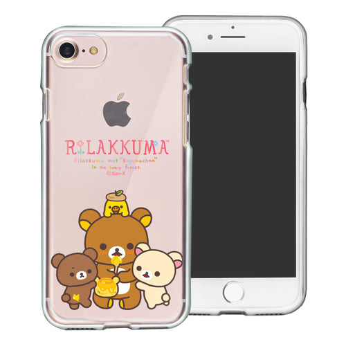 iPhone SE 2020 / iPhone 8 / iPhone 7 Case (4.7inch) Rilakkuma Clear TPU Cute Soft Jelly Cover - Rilakkuma Honey