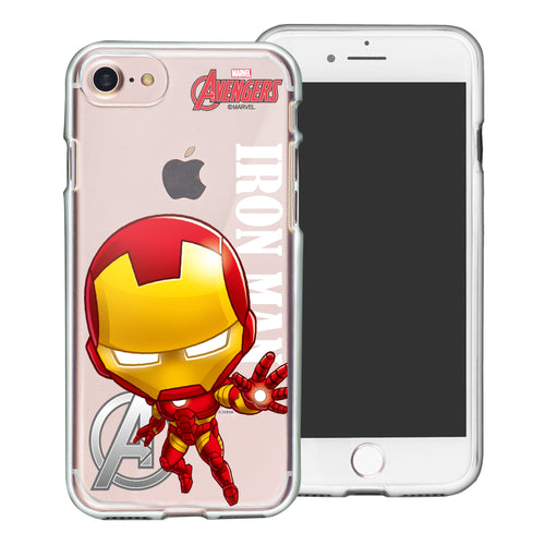 iPhone 8 Plus / iPhone 7 Plus Case Marvel Avengers Soft Jelly TPU Cover - Mini Iron Man