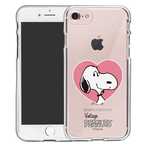 iPhone 6S / iPhone 6 Case (4.7inch) PEANUTS Clear TPU Cute Soft Jelly Cover - Vivid Snoopy Heart