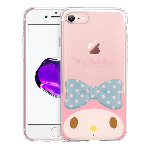 iPhone 6S / iPhone 6 Case (4.7inch) My Melody Face Cute Bow Ribbon Clear Jelly Cover - Face My Melody