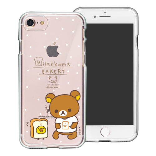 iPhone SE 2020 / iPhone 8 / iPhone 7 Case (4.7inch) Rilakkuma Clear TPU Cute Soft Jelly Cover - Rilakkuma Bread